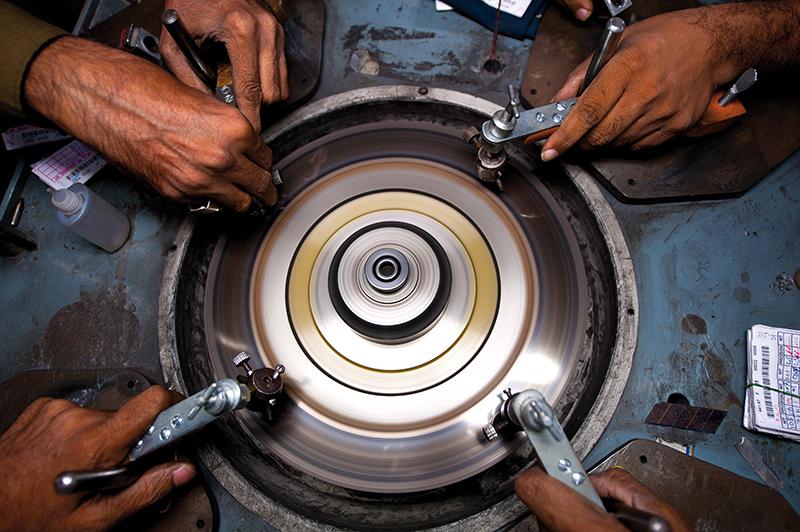 天然钻石加工过程