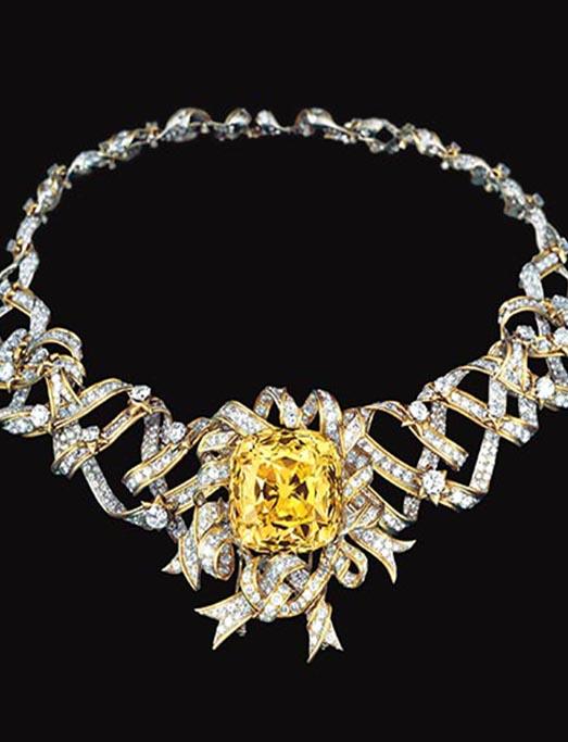 蒂芙尼 (Tiffany) 的黄钻项链。图片来源:Tiffany & Co