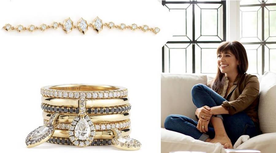 杰徳·崔和她设计的天然钻石作品