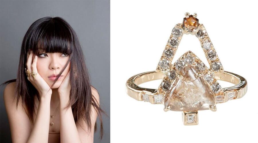 王潇和她设计的天然钻石作品