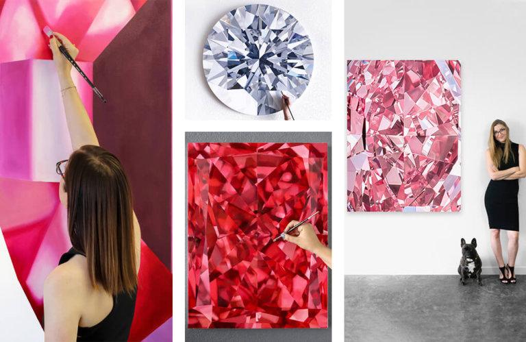 安吉·魁柏翠和他的天然钻石艺术作品