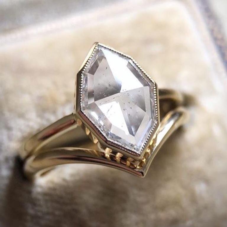 椒盐灰系列天然钻石戒指